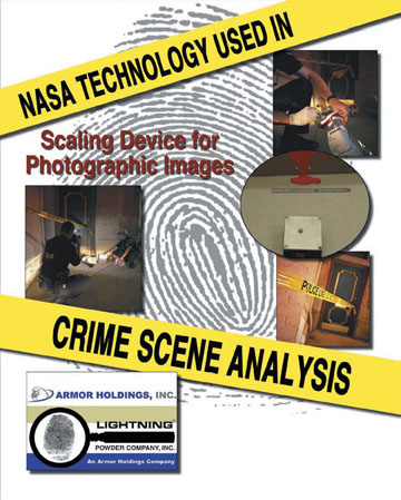 By having the ability to measure the size of an object in a photograph, the Scaling Device helps crime scene investigators analyze information.