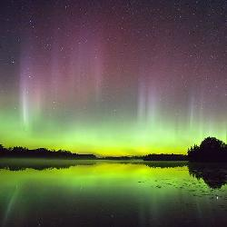 Photo of aurora in Lac du Flambeau, Wis. Credit: Jeffrey R. Hapeman