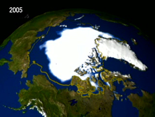 Sea-ice area from NSIDC