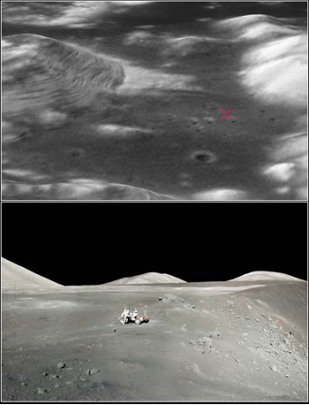 Apollo 17 landing site on the Moon