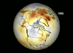 Temperature Anomalies in the Arctic