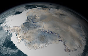 Antarctica lost much more ice to the sea than it gained from snowfall, resulting in an increase in sea level.