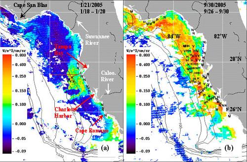 Show A Map Of Florida.Nasa An Active Florida Hurricane Season Adds To Red Tide
