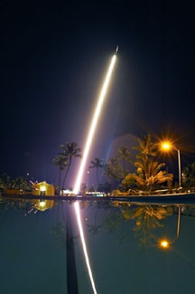 sounding rocket launch