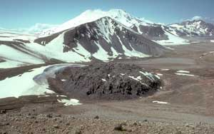 Volcanic dome atop the Novarupta vent, Valley of Ten Thousand Smokes, Katmai National Park and Preserve, Alaska.