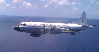 NOAA's P3 research aircraft