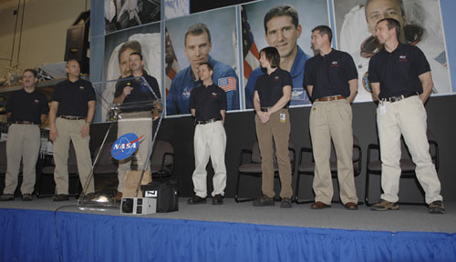 Photo from astronaut crew visit.
