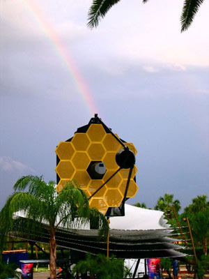 The full scale model of the Webb Space Telescope.