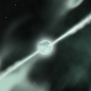 Within seconds, the beams have eaten their way out of the star, and observers at Earth see it as a gamma