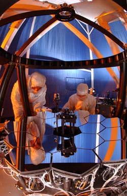 Photo of the JWST testbed