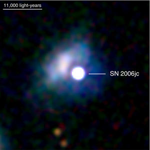Swift Ultraviolet/Optical Telescope image of supernova 2006jc in the galaxy