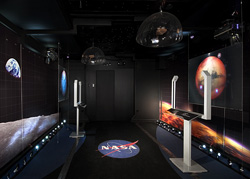 This is an interior picture of NASA's Vision for Space Exploration Experience.