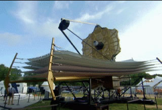 Image from movie clip of the JWST on the National Mall in Washington
