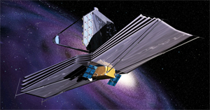 Artist's rendering of the James Webb Space Telescope.