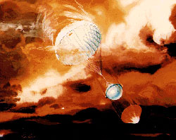 Galileo arrived at Jupiter on Dec. 7, 1995, entering orbit and dropping its instrumented probe into the giant planet's atmosphere.