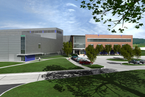 Rendering of Exploration Sciences Building