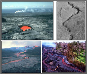 Tubes and channels in lava flows on Earth