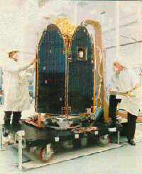 The Earth Probe TOMS instrument before its launch in 1996.