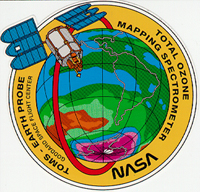 The official Earth Probe TOMS mission patch.