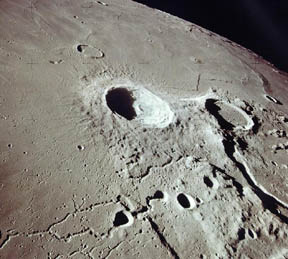 Aristarchus crater seen from Apollo 15 in orbit