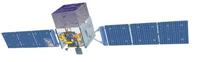 Artist's rendition of the GLAST satellite.