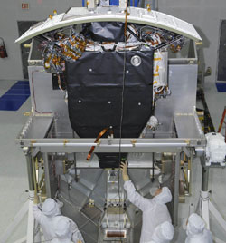 Image of Wide Field Camera 3 for the future Hubble servicing mission 4.