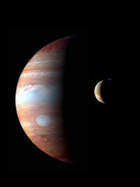 Jupiter and Io as seen by New Horizons spacecraft