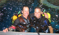 Divers in the Johnson Space Center Neutral Buoyancy Lab