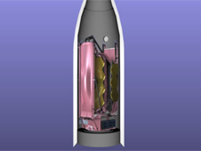 Artist rendering of JWST in launch vehicle