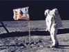Photo of Buzz Aldrin on the moon.