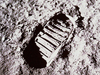 Photo of first footprint on the moon.