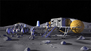 Artist concept of a possible future lunar outpost