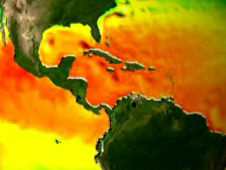 Screen capture from the Earth Temperature web short