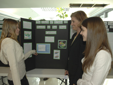 High school students Ariel Weagley and Kristy Steiner explain how El Nino affects rainfall in San Diego.