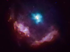 This Chandra image shows the supernova Kes 75.