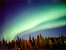 Photograph of an aurora