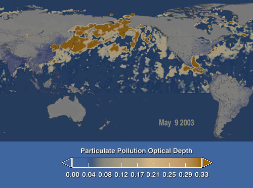 May 9 China aerosol image