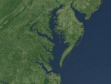 Landsat image of the Chesapeake Bay
