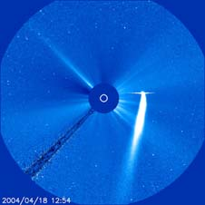 Comet Bradfield seen by SOHO