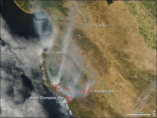 Southern California wildfire image