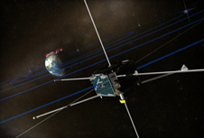 Artist concept of a THEMIS satellite