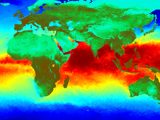 Temperature map of the Indian Ocean