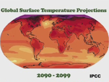 Map of projected world temps by 2099