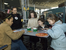 Group of children at the Visitors Center for the Sunday Experiment