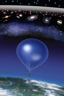 The balloon borne ARCADE instrument discovered this cosmic static shown as the white band on top on its July 2006 flight.