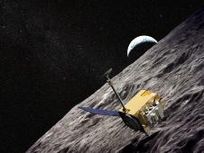 artist concept of LRO and the moon