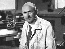 Robert Goddard in his laboratory circa 1930