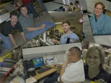 Montage of photos of GSFC employees