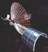 An artist's concept of one Goddard's Applications Technology Satellites.