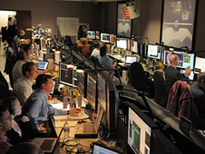 Engineers at the Space Telescope Operations Control Center.